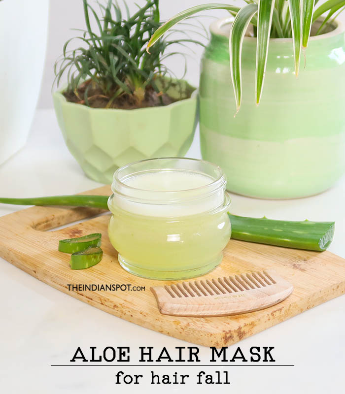 Aloe Vera hair mask for hair fall
