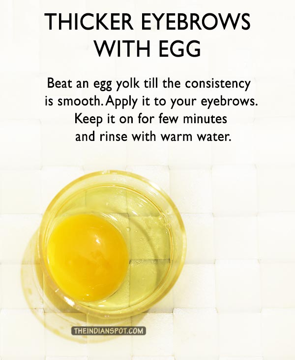 Grow thick and beautiful eyebrows using egg