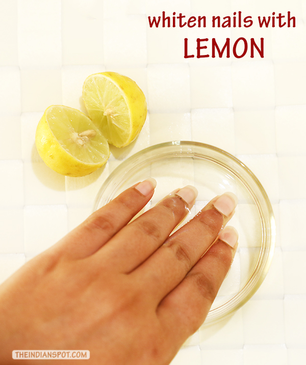 Clean and whiten nails naturally with lemon - THE INDIAN SPOT
