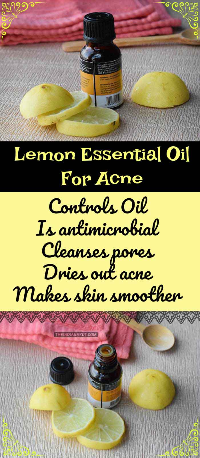 LEMON ESSENTIAL OIL FOR ACNE