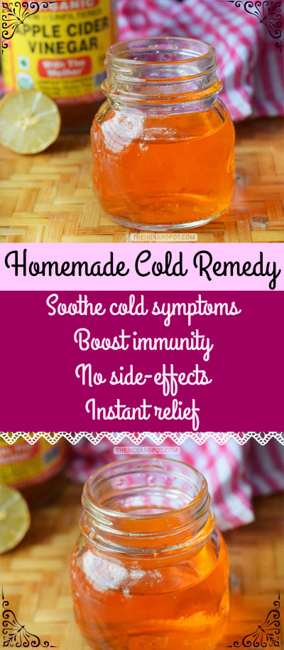 HOMEMADE COLD REMEDY