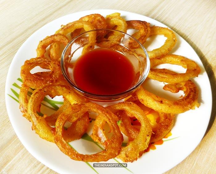5 mins Crispy Onion Rings Recipe
