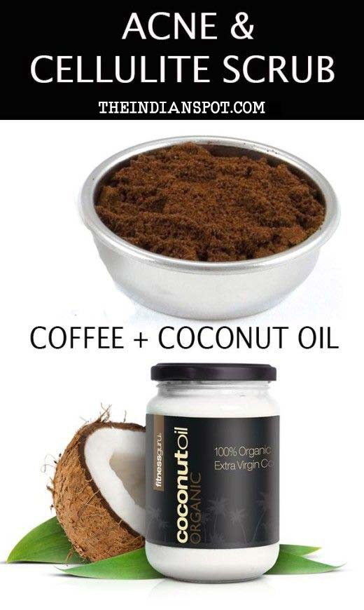 b88acc39bf0e9 Homemade Coffee Scrub for acne and cellulite - THE INDIAN SPOT