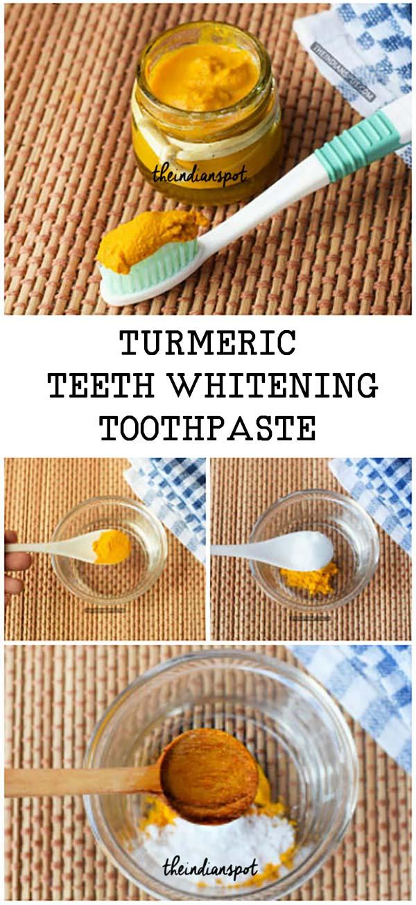 Turmeric Toothpaste to Whiten Teeth :