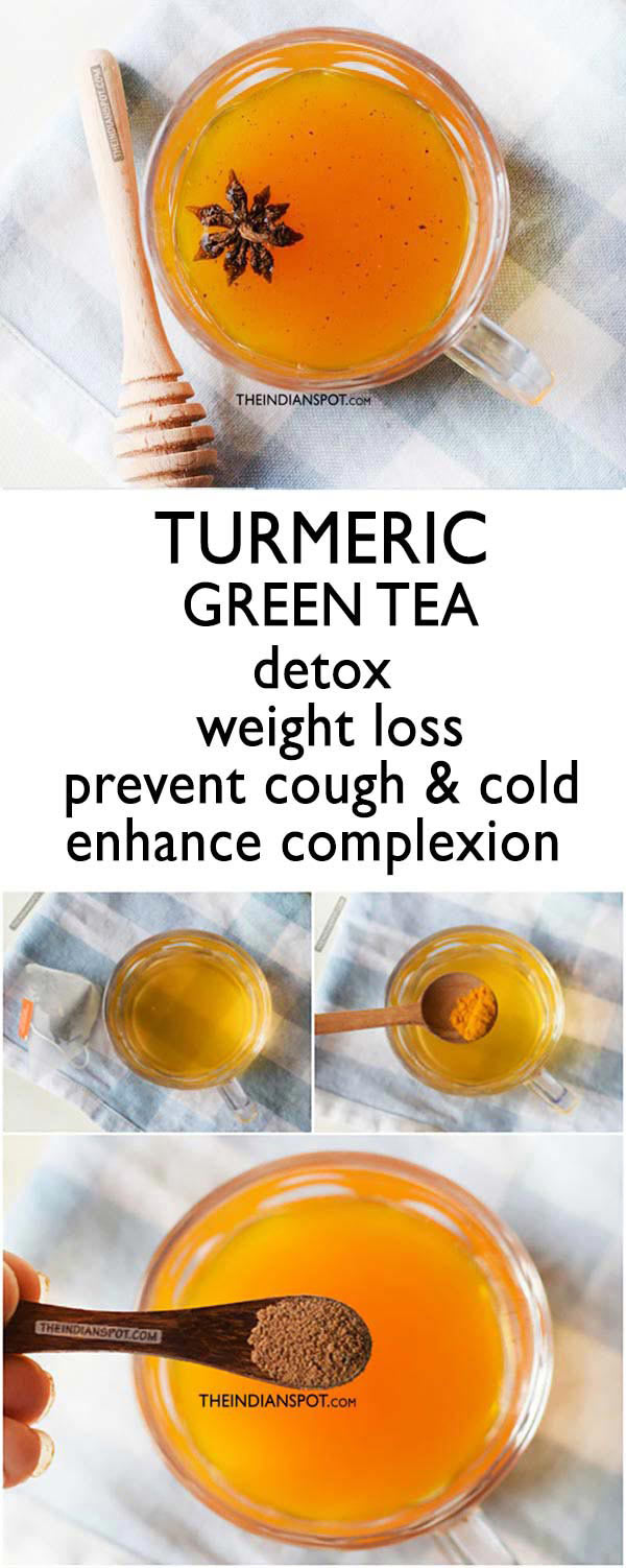 DETOX TURMERIC GREEN TEA for weight loss