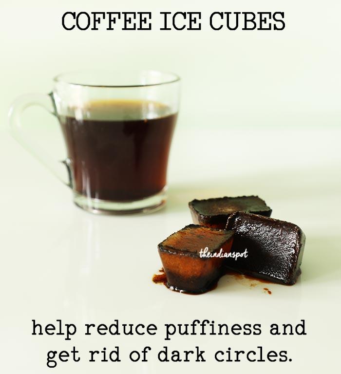 DIY COFFEE ICE CUBES TO GET RID OF DARK CIRCLES