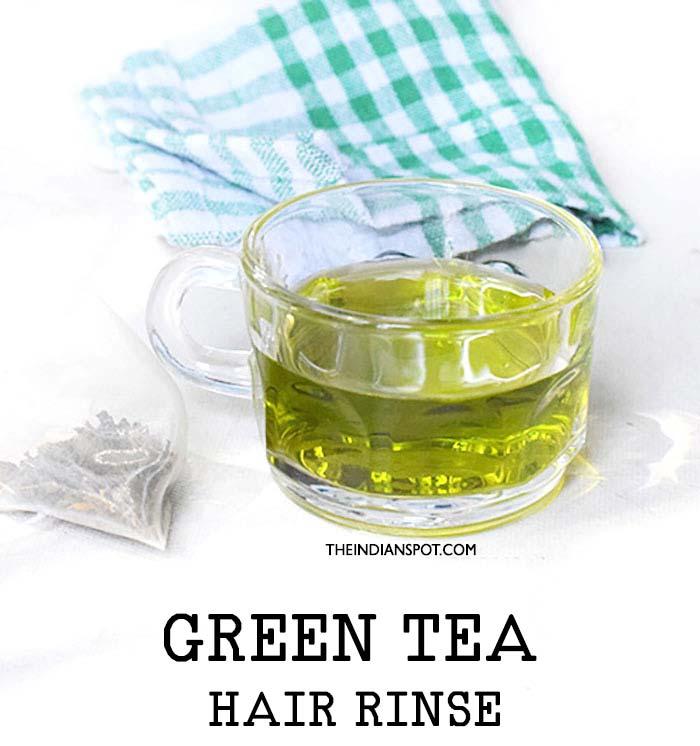 GREEN TEA for hair loss and hair growth