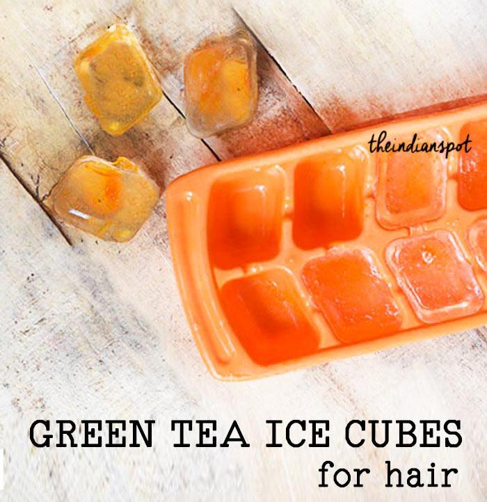 GREEN TEA ICE CUBES FOR HAIR