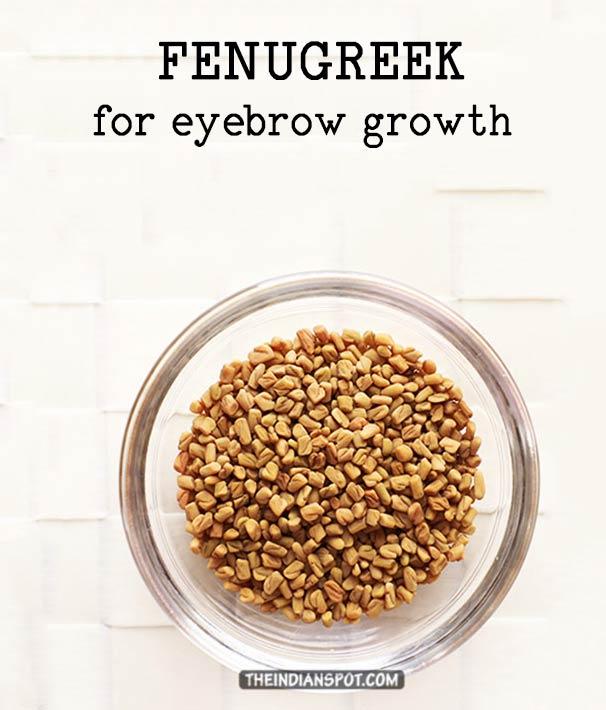FENUGREEK FOR FASTER EYEBROW GROWTH