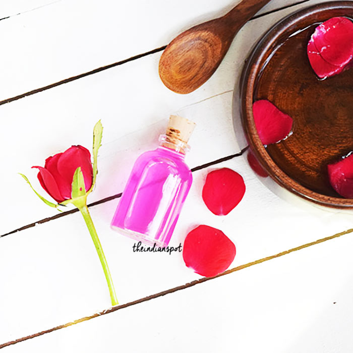 ROSE WATER HAIR SPRAY FOR DRY, DAMAGED AND FRIZZY HAIR
