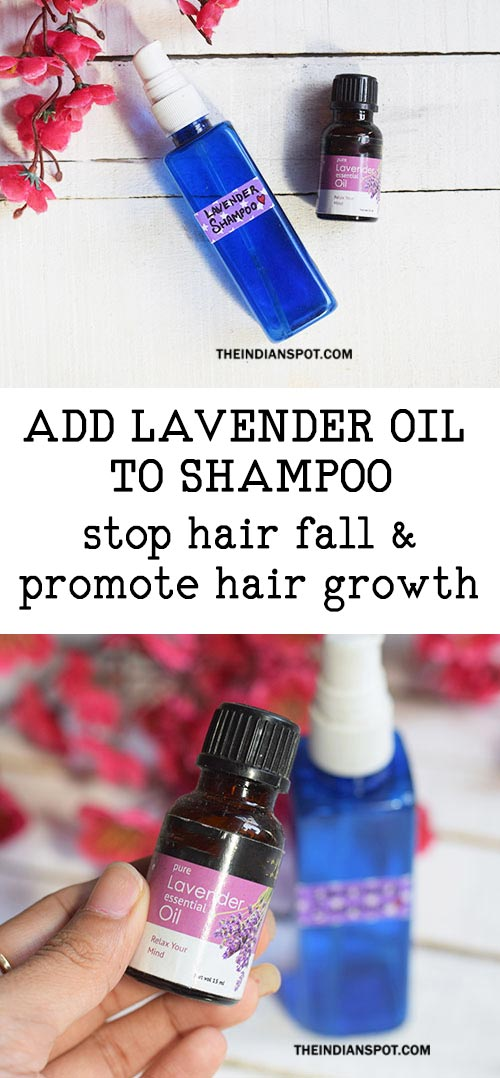 How to Add Lavender Oil to Shampoo to fight hair fall