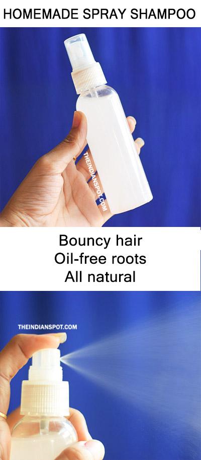 Homemade Spray Shampoo