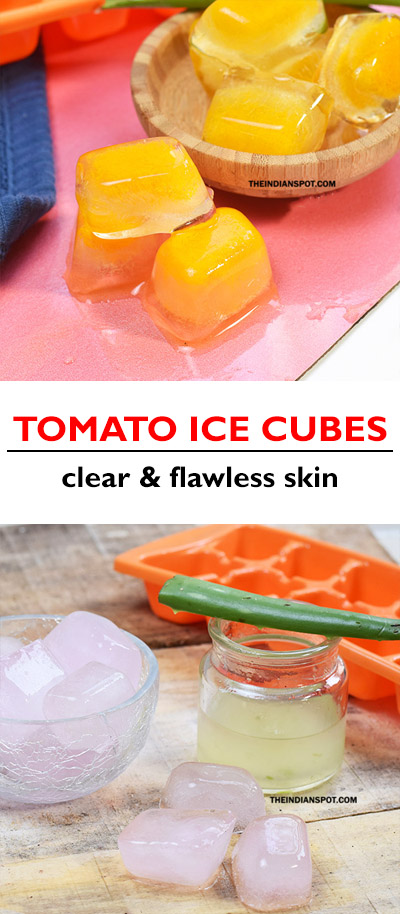 TOMATO ICE CUBES FOR CLEAR FLAWLESS SKIN