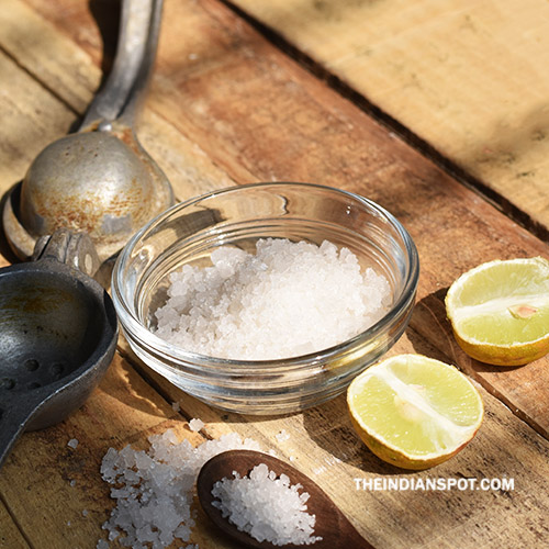 REMOVE INK STAINS WITH LEMON JUICE AND SALT