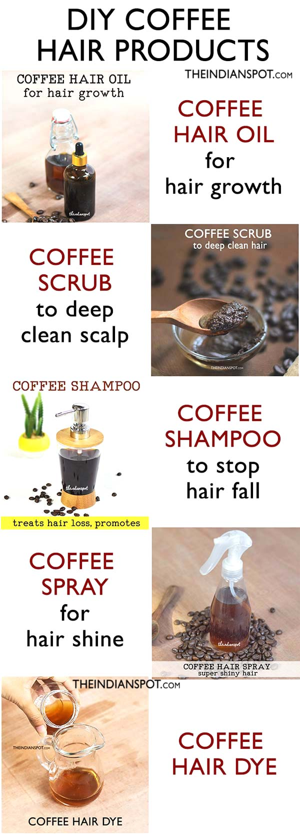DIY COFFEE HAIR PRODUCTS for hair growth