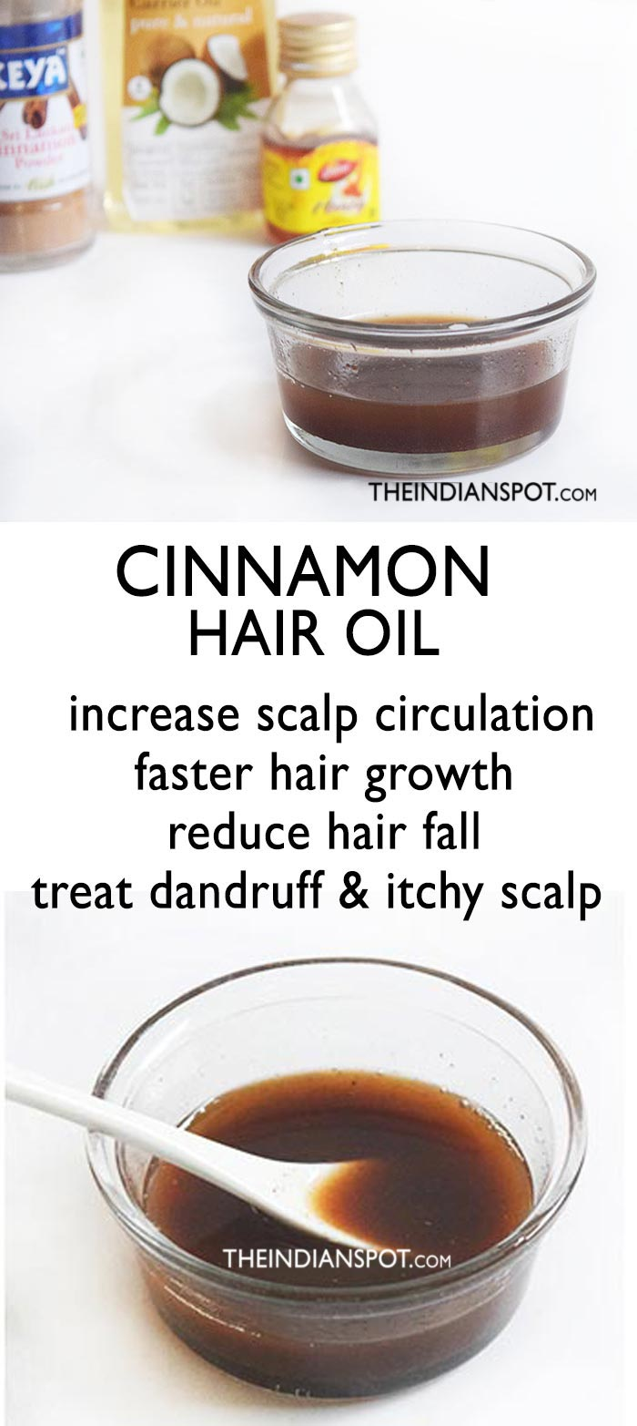 CINNAMON HAIR OIL FOR FASTER HAIR GROWTH