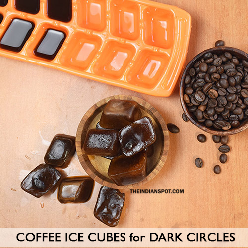 ICE CUBES FOR DARK CIRCLES AND PUFFY EYES