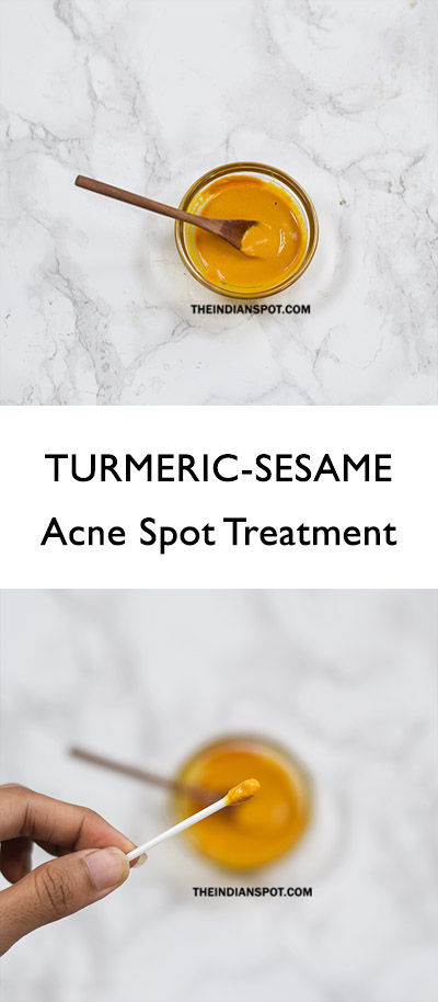 BEAUTY DIY: TURMERIC-SESAME ACNE SPOT TREATMENT