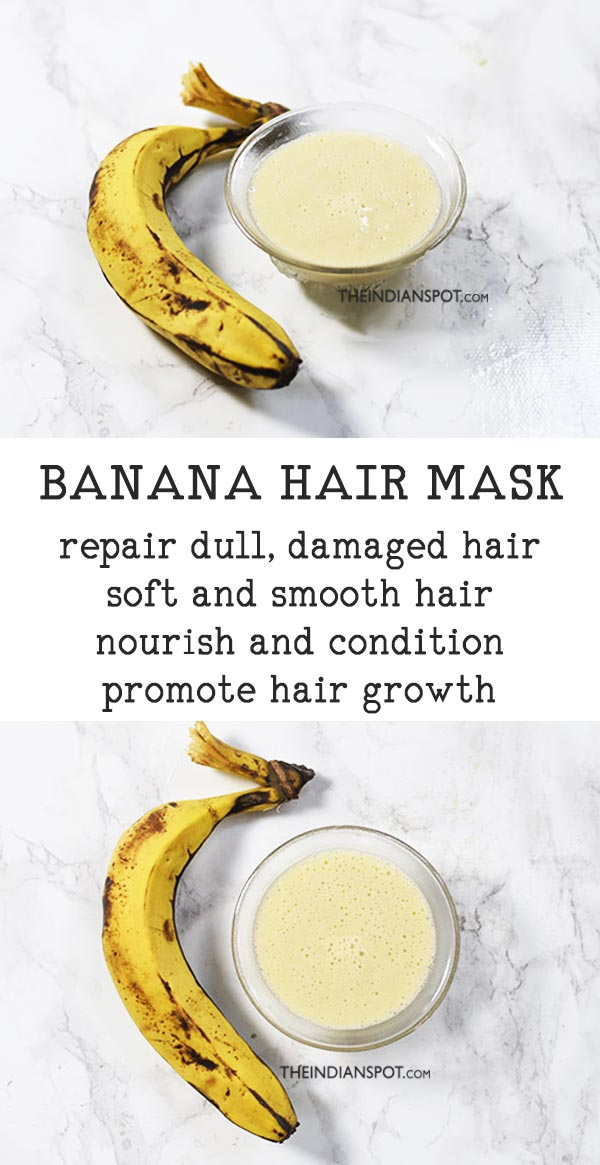 BANANA MILKSHAKE HAIR MASK TO REPAIR HAIR