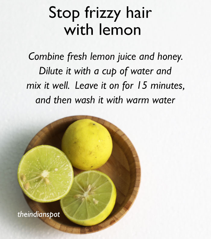 How to Stop frizzy hair with lemon