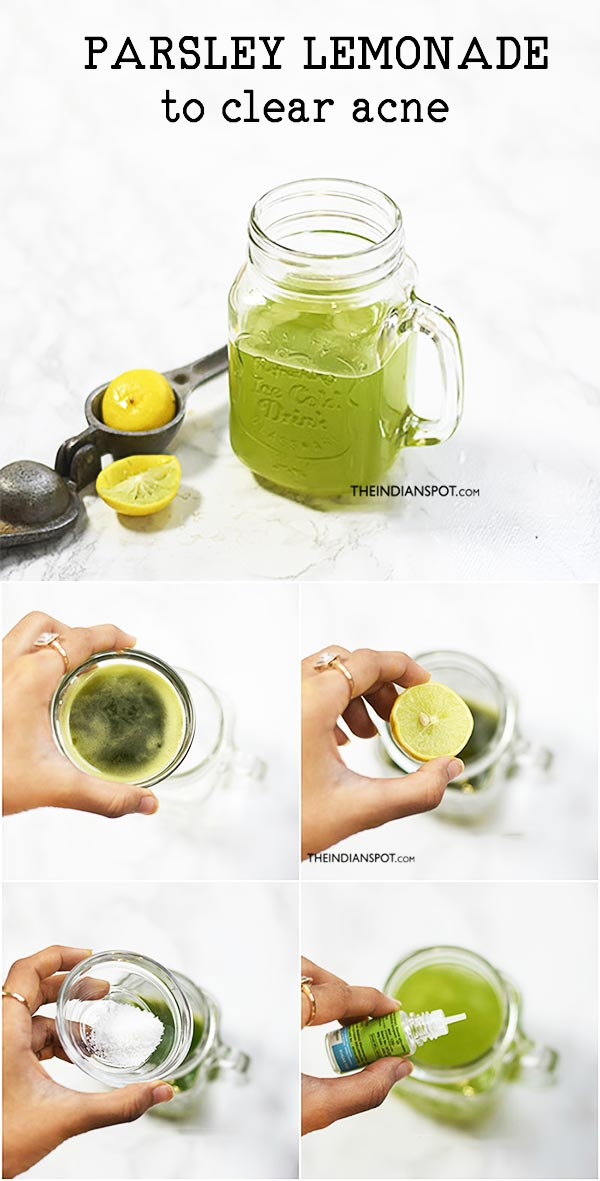 PARSLEY LEMONADE FOR ACNE