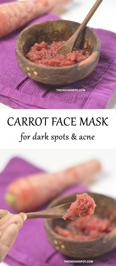 BEAUTY DIY: CARROT FACE MASK FOR ACNE AND DARK SPOTS