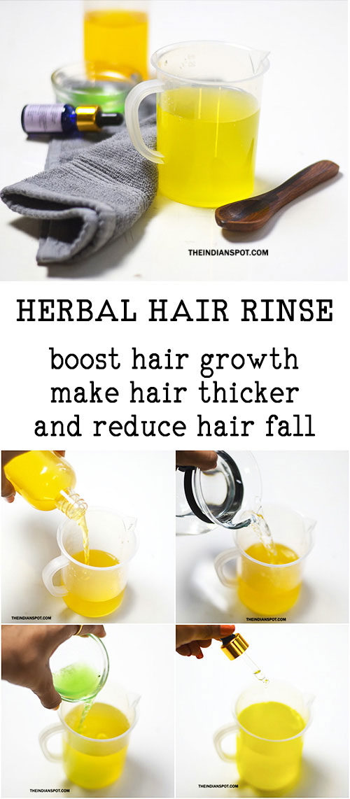 HERBAL VINEGAR HAIR RINSE FOR THICKER HAIR