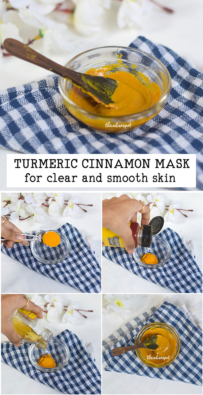 TURMERIC CINNAMON MASK for clear and smooth skin