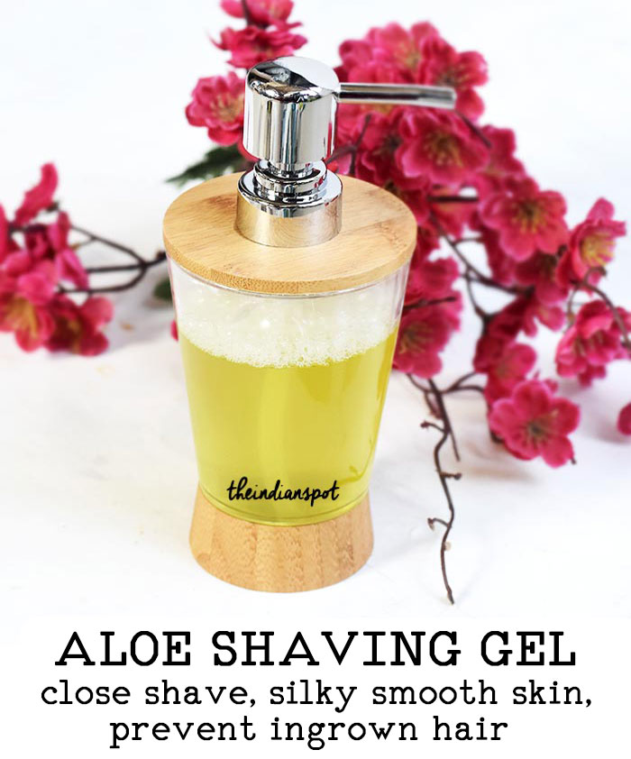 Homemade Aloe Shaving Gel for a close and smooth shave