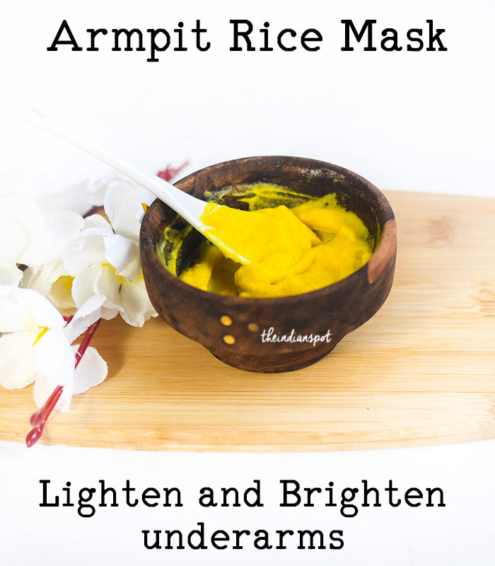 Lighten Underarms with Rice Mask