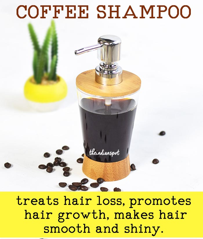 DIY Coffee shampoo for soft, shiny hair