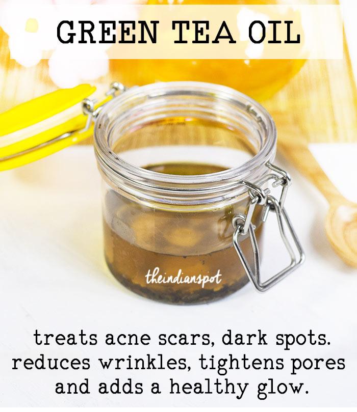 DIY GREEN TEA FACIAL OIL FOR GLOWING SKIN