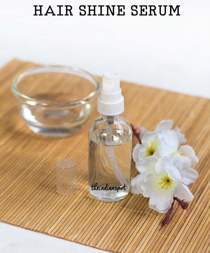 Homemade Natural Hair Shine serum