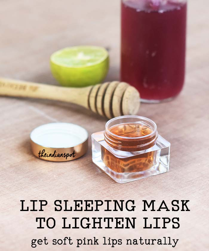 LIP SLEEPING MASK TO LIGHTEN LIPS - get soft pink lips naturally