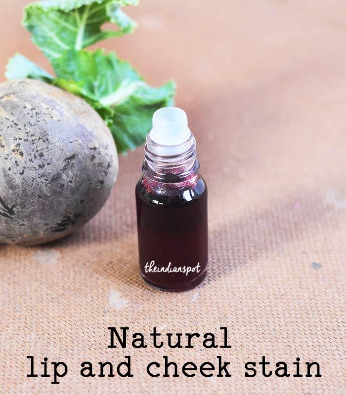 DIY natural lip and cheek stain