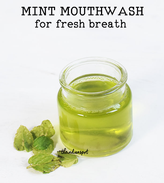 MINT MOUTHWASH RECIPE for fresh breath