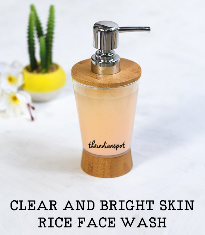 HOMEMADE CLEAR AND BRIGHT SKIN RICE FACE WASH