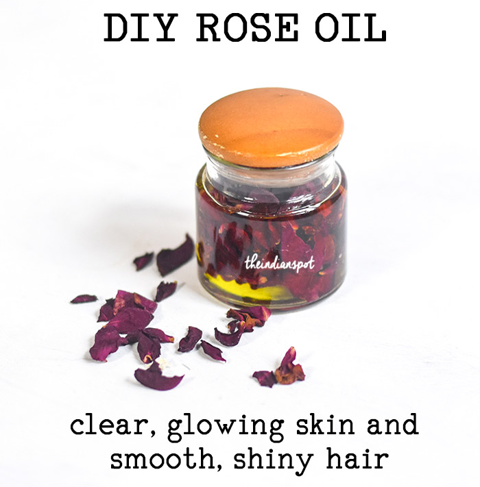 DIY ROSE OIL for glowing skin and shiny hair