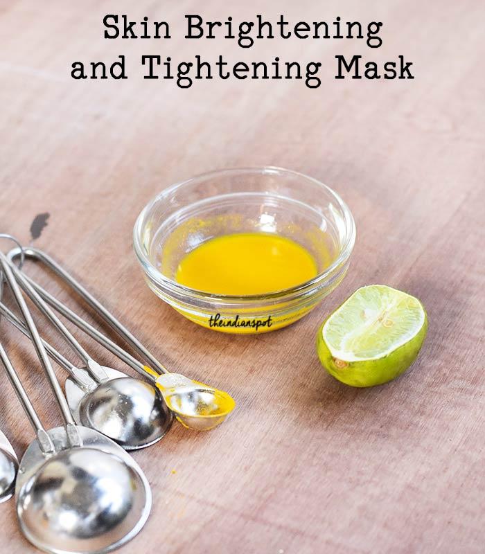 Natural Skin Brightening and Tightening Mask