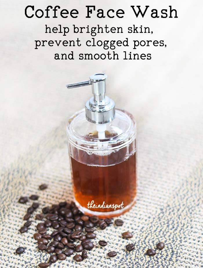 DIY Coffee Face Wash - brighten and tighten skin
