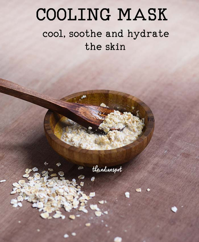 Summer Face and body Mask to cool, soothe and hydrate the skin