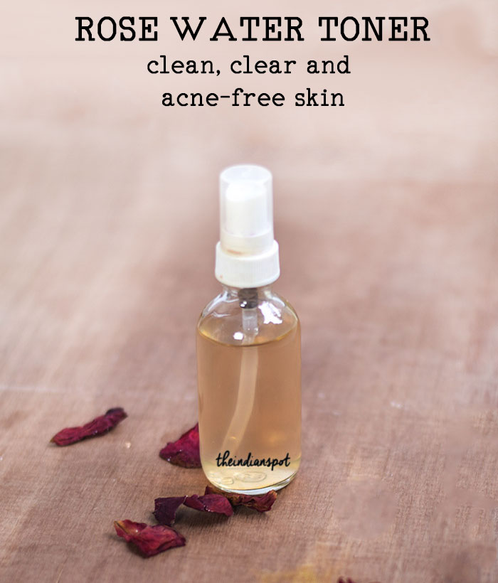 ROSE WATER TONER TO TREAT ACNE