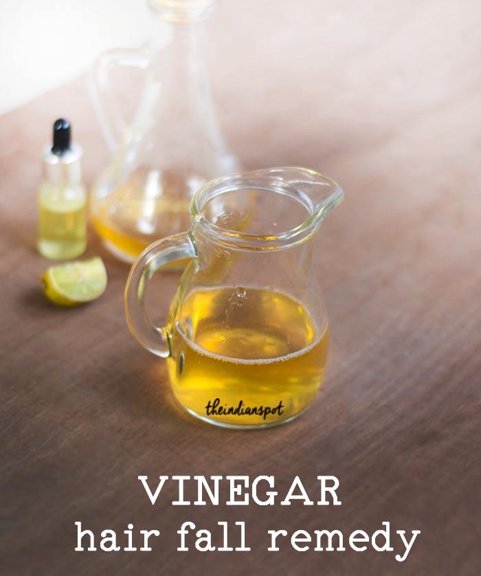 Stop hair fall with vinegar