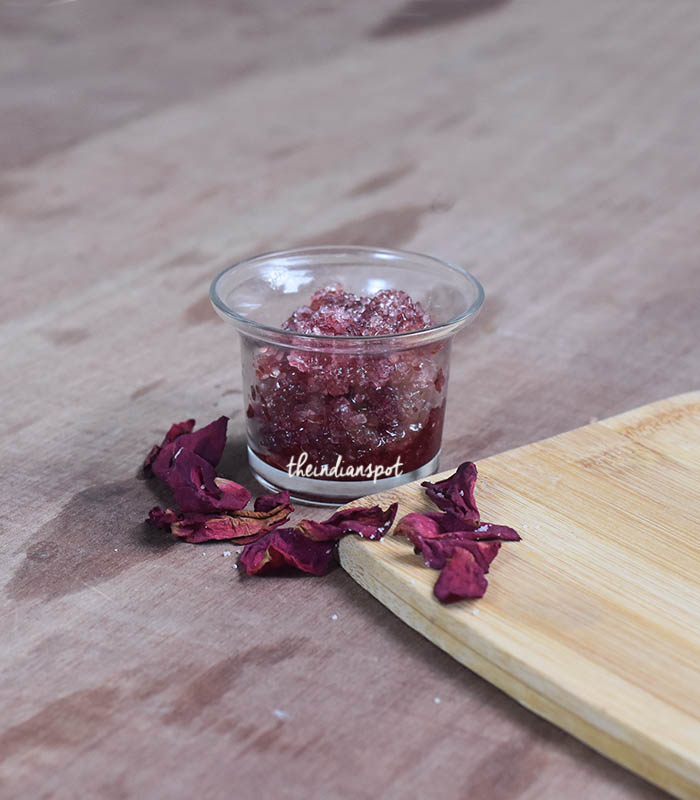 ROSE BODY SCRUB FOR SOFT AND GLOWING SKIN