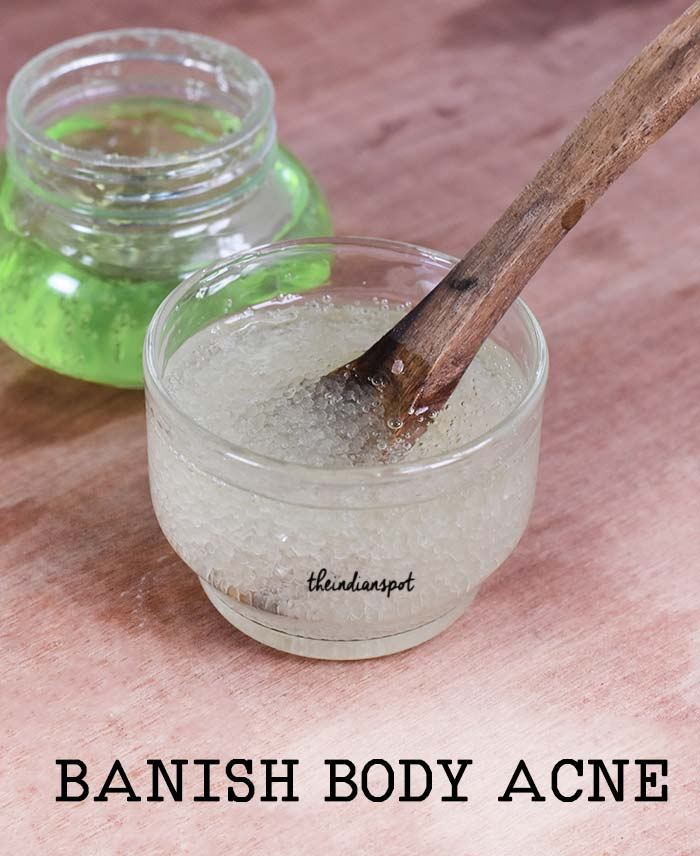 Homemade Body or Back Acne Scrub