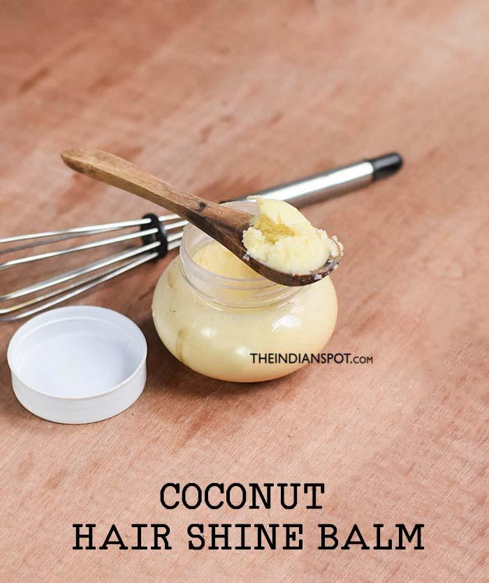 Coconut hair shine balm