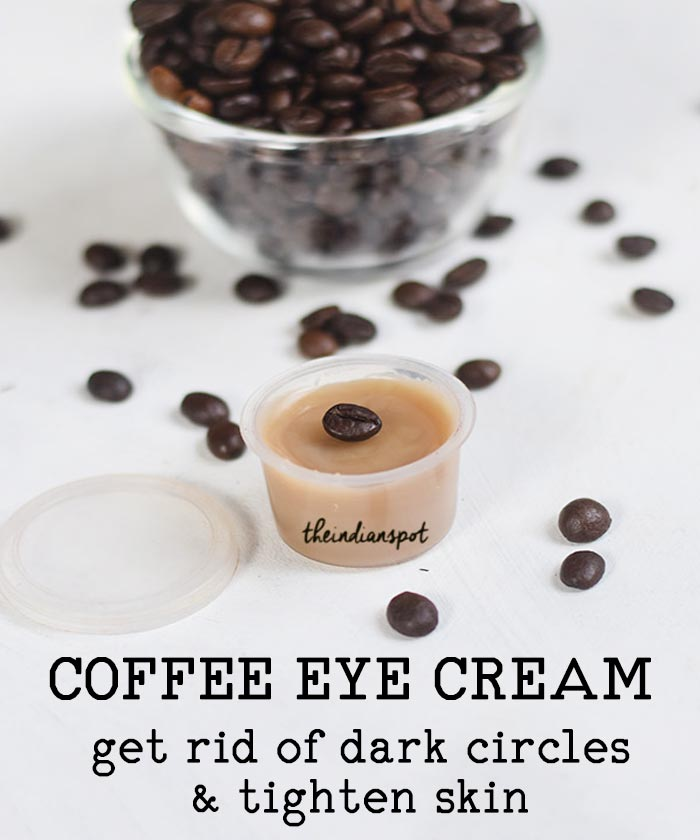 DIY natural coffee eye cream for dark circles and fine lines