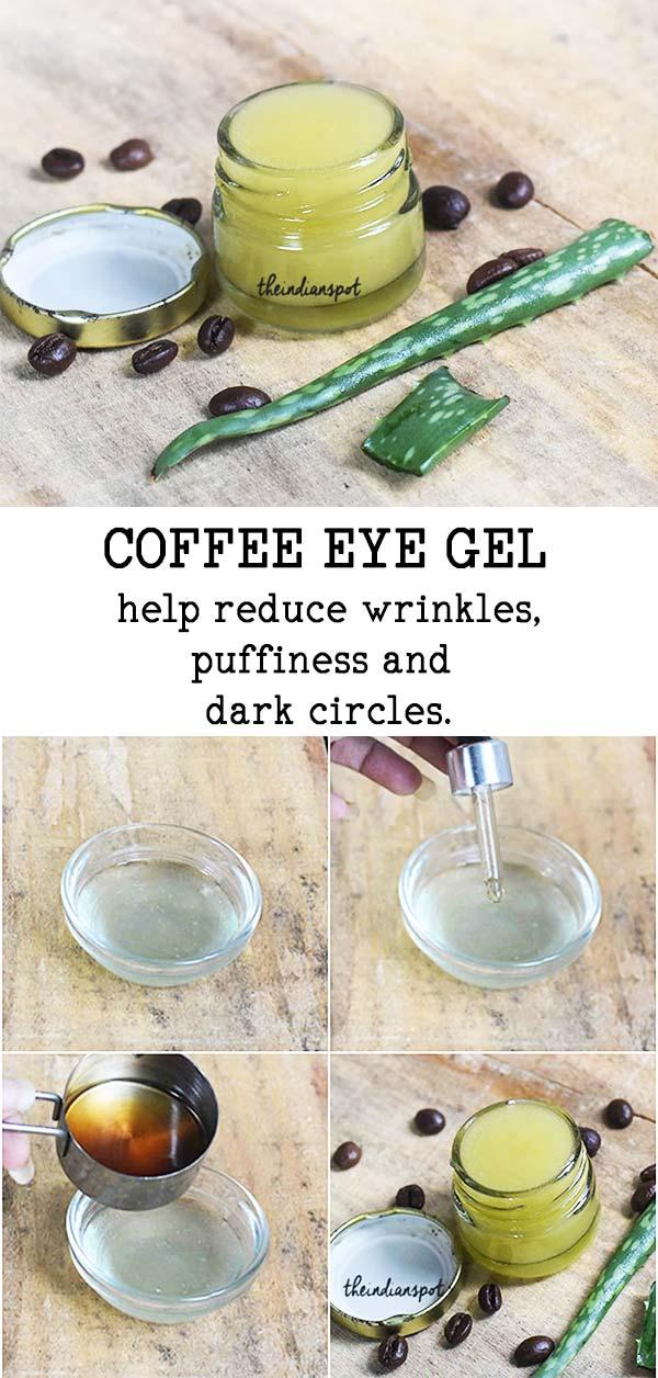 Coffee Eye Gel to treat dark circles & Puffy eyes