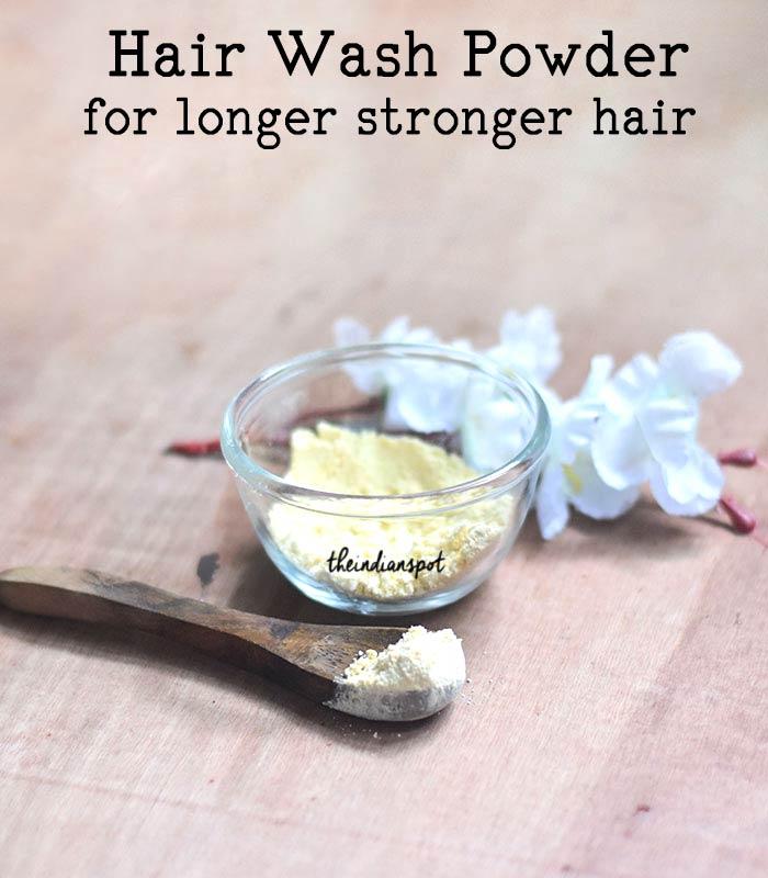 All Natural Hair Wash Powder for longer stronger hair