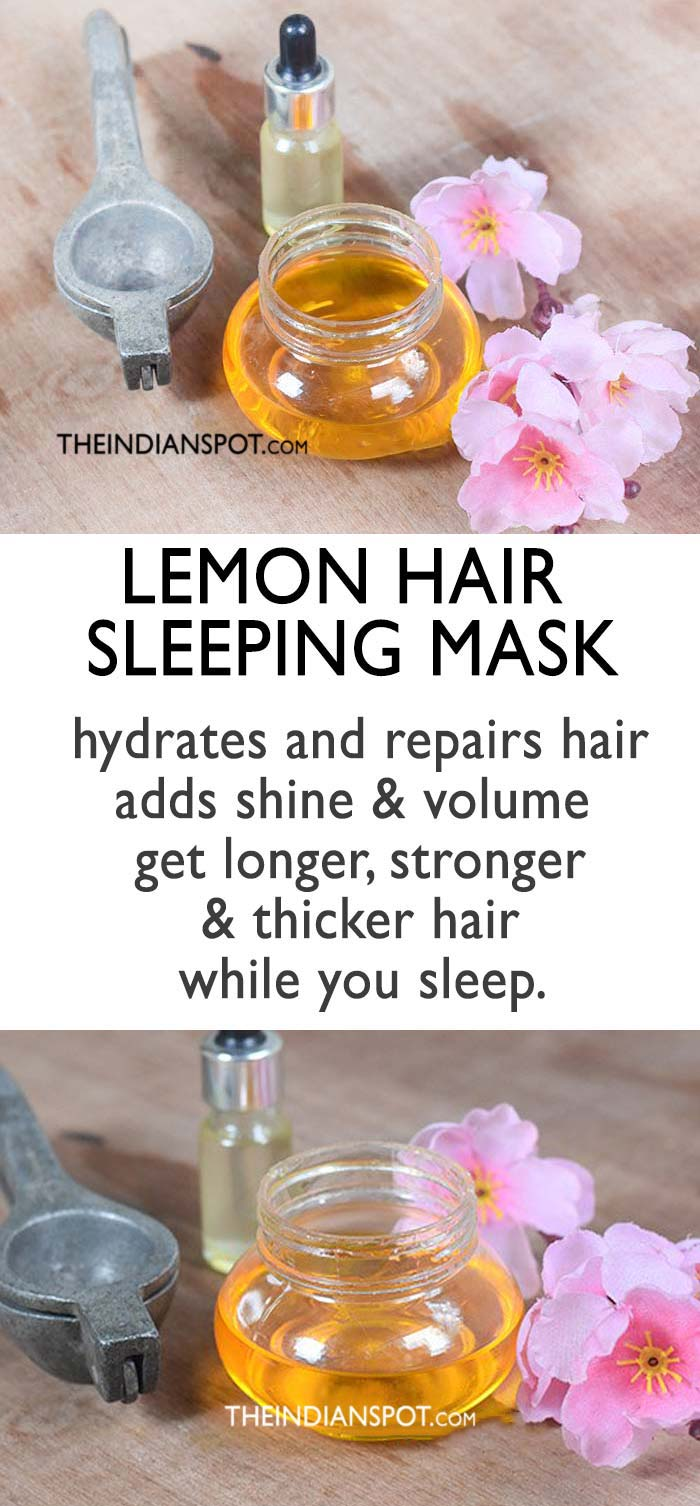 Hair sleeping mask for thicker hair
